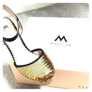92a4d72e62c Women s Marcella Low Block Heel Pumps Ankle Straps.  M 5a59cd4545b30c2cef3cf353. Other Shoes you may like. Shoes. Shoes.  30   49. Gold Espadrille Wedges